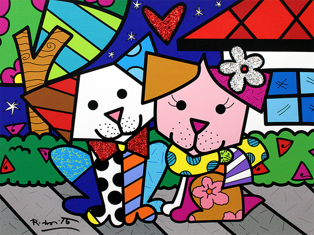 Romero Britto, 'Pet Love', 2018, Castle Fine Art