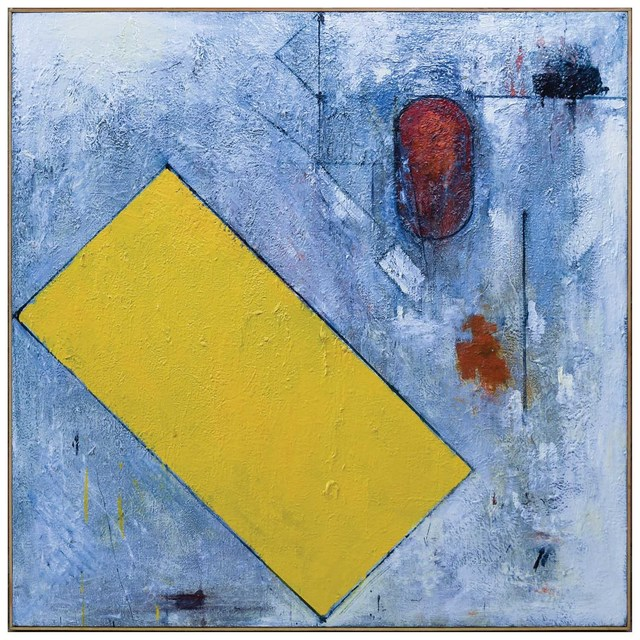 , 'Hard-line Yellow (Echo),' 1991, Betty Cuningham