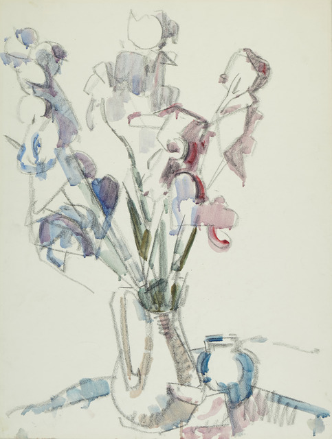 , 'Irises in a Pitcher,' 1956, Childs Gallery