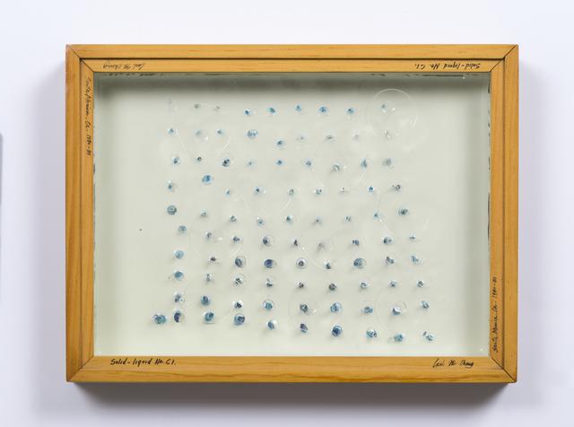 , 'Liquid/Solid Series: Solid - liquid No. C1,' 1980, Philip Martin Gallery