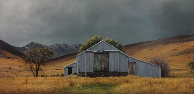 , 'Old Shearing Shed in the Lindis, Central Otago,' 2019, Black Door Gallery