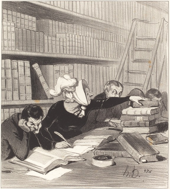 Honoré Daumier, 'Monsieur, pardon si je vous gêne un peu...', 1844, National Gallery of Art, Washington, D.C.