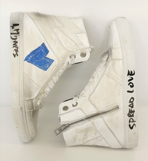 Zadig and Voltaire X Alexander Mijares, 'ZV1747 High Flash, sneakers', Other, Goatskin, Heritage Auctions
