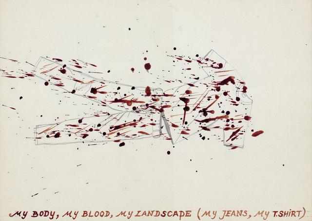 , 'My Body, My Blood, My Landscape,' 1978, M HKA – Museum of Modern Art Antwerp