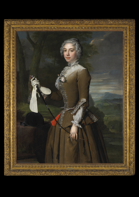 , 'Portrait of a Lady in Riding Dress, Three-quarter Length, in a Landscape   ,' 1733, Tomasso Brothers