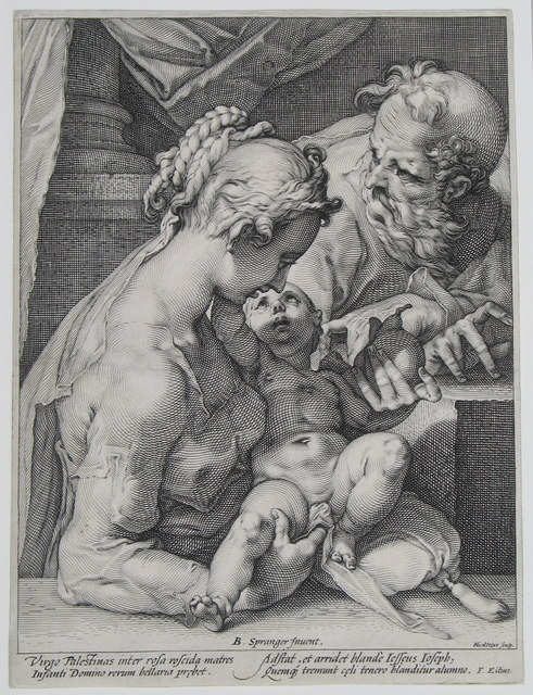 , 'The Holy Family with the Pear, after Bartolomeus Spranger,' ca. 1589, Jan Johnson Old Master & Modern Prints
