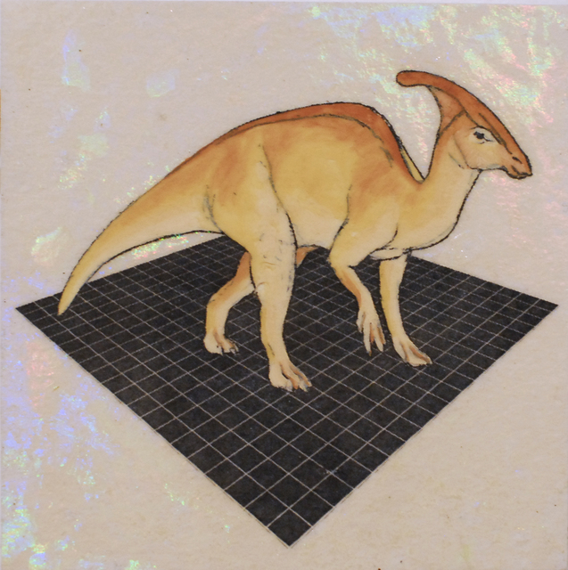 , 'Orange Parasaurolophus,' 2019, Deep Space Gallery