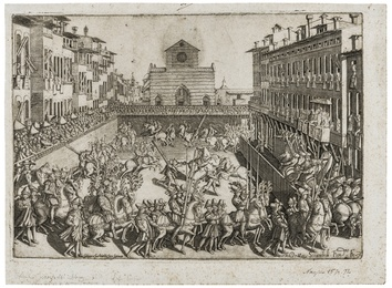 Jousting tournament in Piazza Sante Croce, May 10th, 1589
