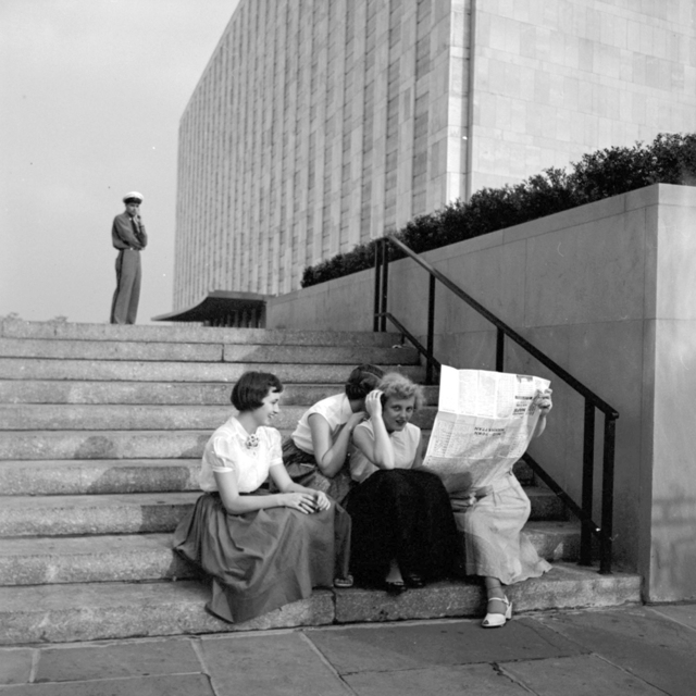 Vivian Maier, 'VM1954W02949 - Flushing Queens, NY, 195, Women on Stairs', Printed 2017, Photography, Modern gelatin silver print, KP Projects