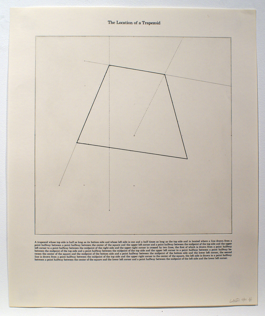 Sol LeWitt, 'The Location of a Trapezoid', 1975, Bernard Jacobson Gallery