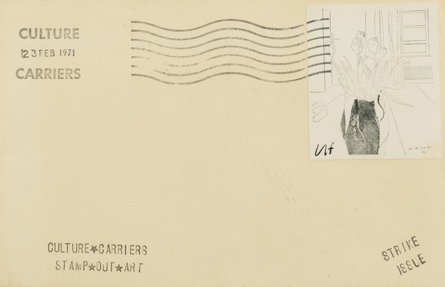David Hockney, 'Tulips, from 'Culture Carriers Stamp Out Art'', 1971, Forum Auctions