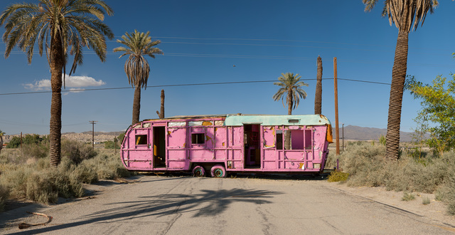 , 'Pink Trailer; Salton Sea, California,' 2012, Clark Gallery