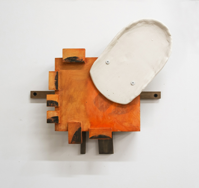 Christina Tenaglia, 'Untitled 923', 2018, Sculpture, Porcelain, ink, paint, wood, screws, nails, Adah Rose Gallery