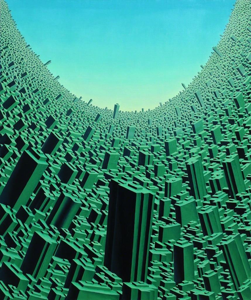 "Life City ""2005-2020"" oil painting on canvas (2005) by Satoshi Koyama"
