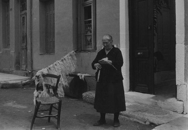 Ellen Auerbach, 'Poros, Greece (woman weaving wool)', 1952, Robert Mann Gallery