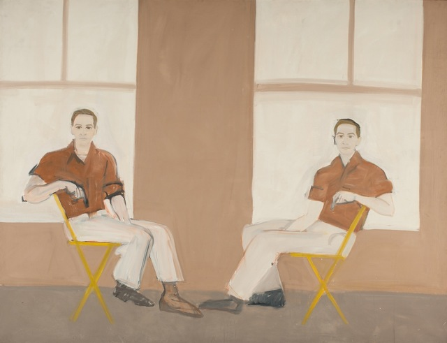 Alex Katz, 'Double Portrait of Robert Rauschenberg', 1959, Neuberger Museum of Art