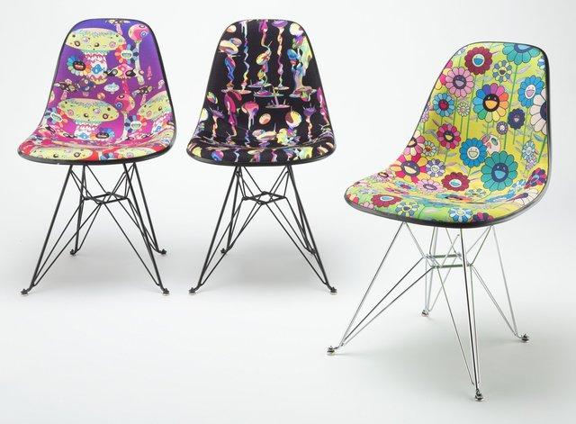 Takashi Murakami, 'Takashi Murakami Modernica Chair, set of three', 2019, Design/Decorative Art, Fiberglass, Heritage Auctions