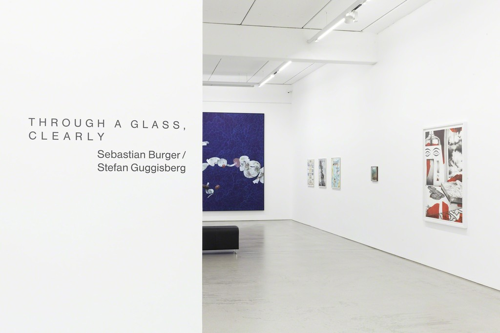 "Installation view of the two person show ""Through a Glass, Clearly"" by Sebastian Burger and Stefan Guggisberg, G2 Kunsthalle, Leipzig (Germany), September 9, 2016 – January 15, 2017, photo: Dotgain © the artists & G2 Kunsthalle, Leipzig."