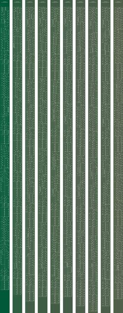, 'metamorphosis music notation numeral 7,' 2015, Johan Deumens Gallery