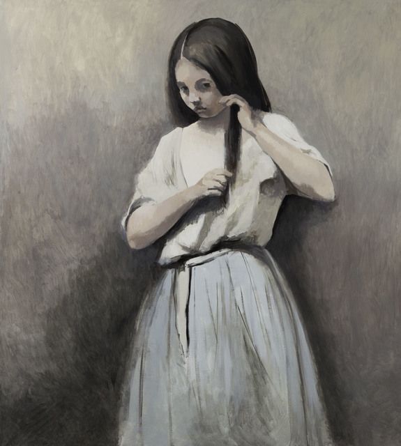 , 'Girl from the Corot painting 2,' 2015, Flowers