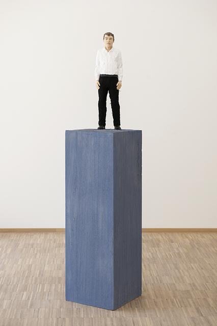 , 'Homme en chemise blanche et pantalon noir,' 2018, Nosbaum & Reding