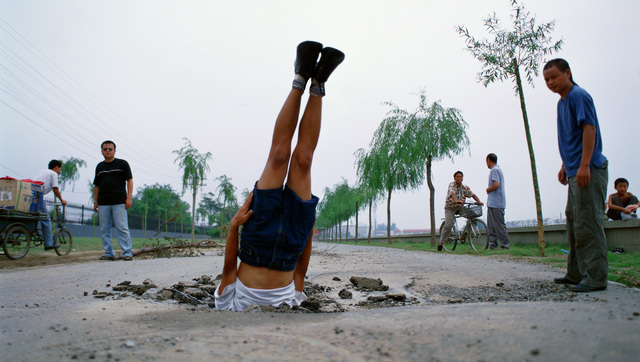 , 'Li Wei falls to the Earth 035-01,' 2002, ON/gallery