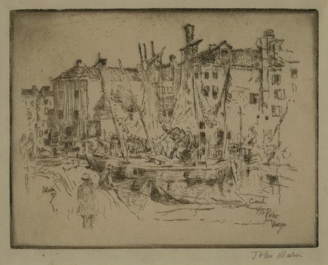 John Marin (1870-1953), 'San Pietro, Venice', 1907, Private Collection, NY