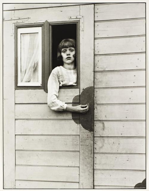 , 'Girl in Fairground Caravan,' 1926, Danziger Gallery