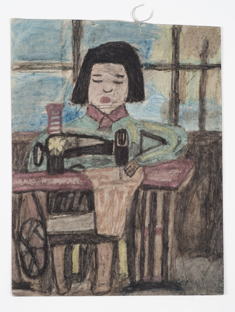 , 'Untitled (Pulp drawing girl sewing),' n.d., Fleisher/Ollman