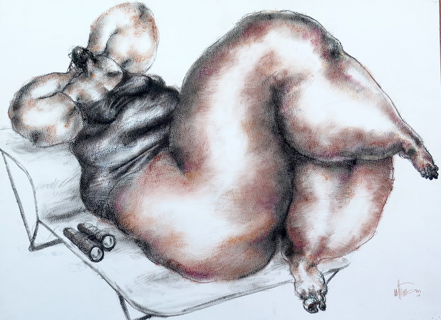 , 'Nude (binoculars),' 2017, Sapar Contemporary