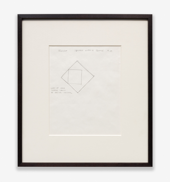 , 'Yellow Square within a Square,' 1974, Rhona Hoffman Gallery