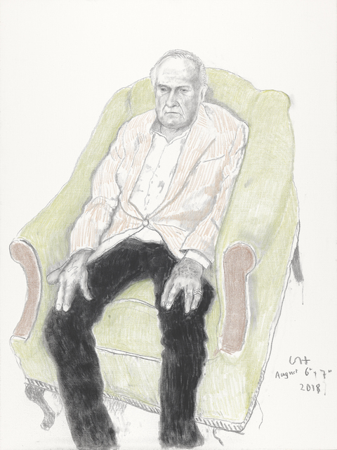 David Hockney, 'John Richardson', 2018, Annely Juda Fine Art