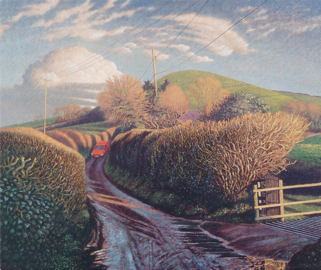 , 'Messages in the Landscape, The Post Van, Parrock Hill,' , Jonathan Cooper