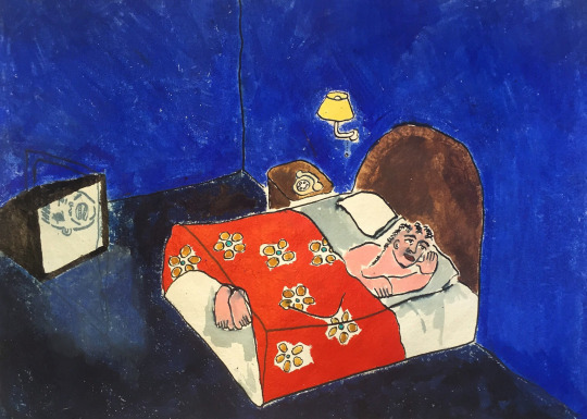 , 'To go to Sleep I Have to Leave the TV on,' 2015, India Dickinson