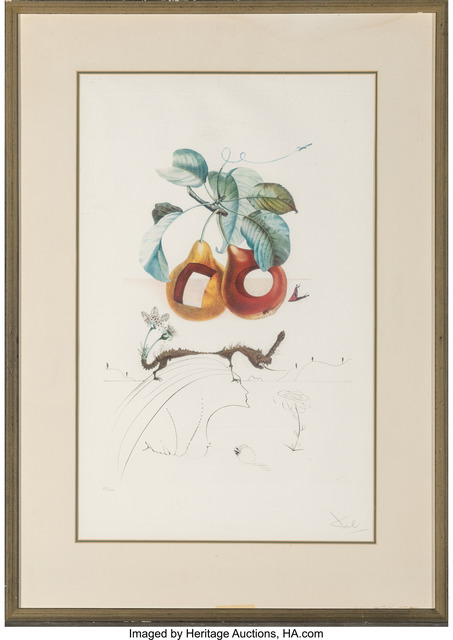 Salvador Dalí, 'Fruits Trouees (Fruit with Holes), from Les fruits', 1969, Print, Photolithograph in colors on BFK Rives paper, Heritage Auctions