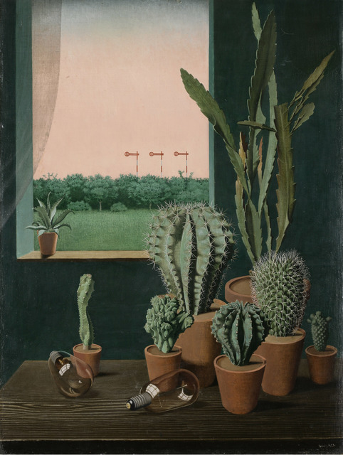 , 'Cacti and Semaphore (Kakteen und Semaphore),' 1923, Los Angeles County Museum of Art