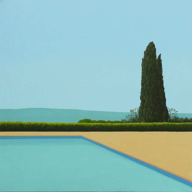 , 'Cypress Tree by the pool,' 2019, Contempop Gallery