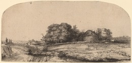 Rembrandt van Rijn, 'Landscape with a Hay Barn and a Flock of Sheep', 1652, Print, Etching and drypoint, National Gallery of Art, Washington, D.C.