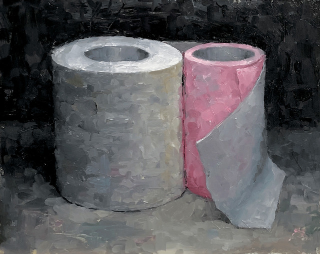 Tom Giesler, 'Health Study 30: tp huddle', 2020, Painting, Oil on panel, McVarish Gallery