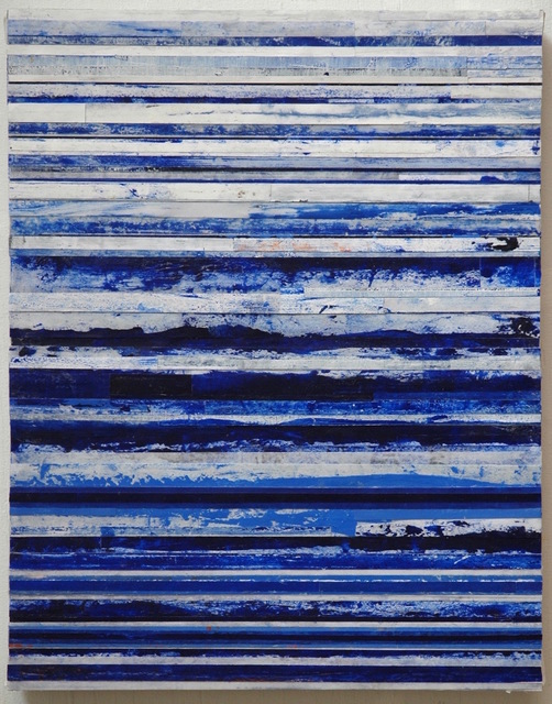 , 'Blue & White Bands,' 2017, Garvey | Simon