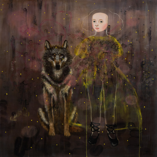 , 'Girl and Wolf,' 2017, Bruce Lurie Gallery