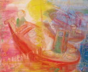 Chao Chung-hsiang 趙春翔, 'Return', 1957, Painting, Watercolors on paper, Asia University Museum of Modern Art