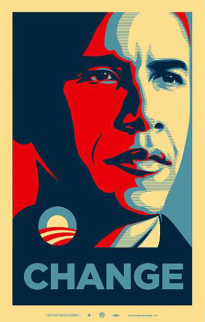 Shepard Fairey, 'CHANGE', 2008, EHC Fine Art Gallery Auction
