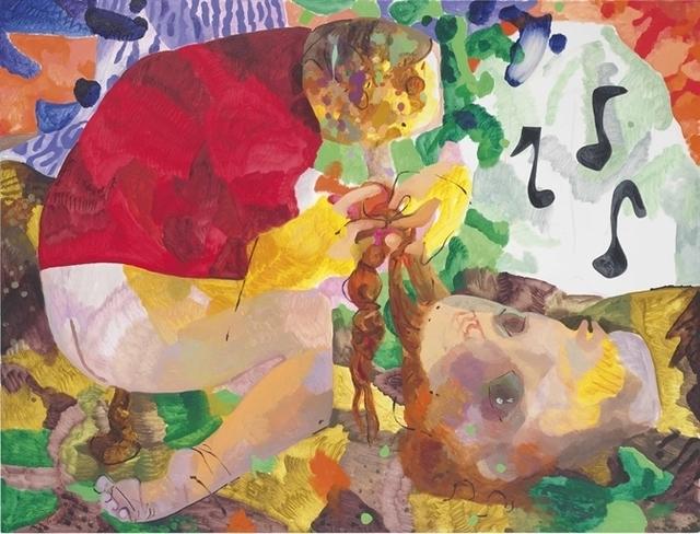 Dana Schutz, 'Crapping, Braiding and Whistling', Christie's