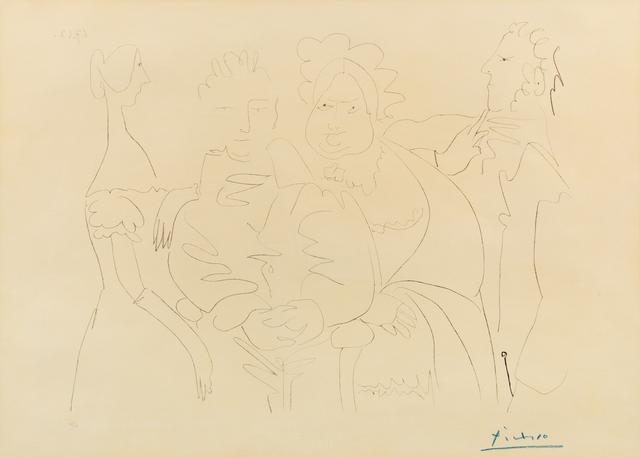 Pablo Picasso, 'Portrait de Famille V (Quatre Personnages)', Print, Lithograph, Hindman