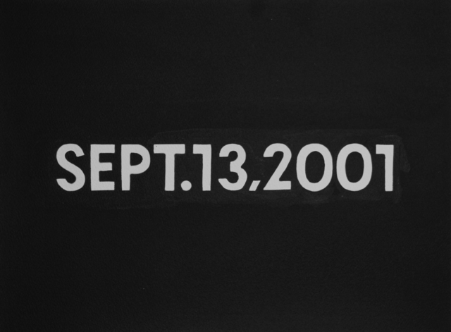 , 'On Kawara, SEPT.13,2001 from the 'Today Series' (1966 - 2014).,' 2017, Christine König Galerie