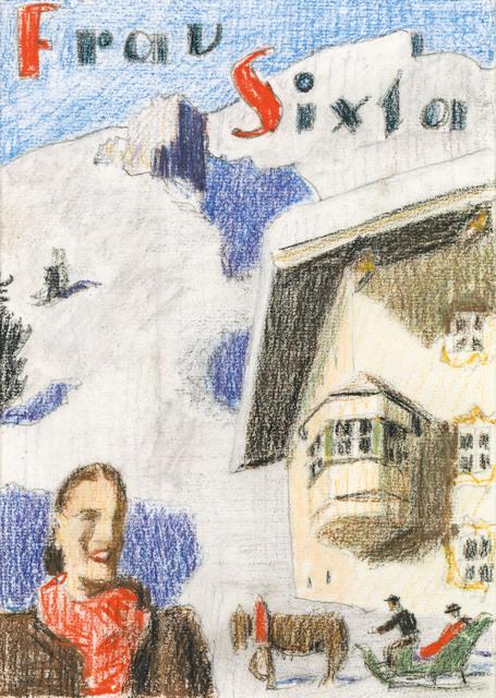 , 'Tobogganing in Winter,' ca. 1925, Galerie Kovacek & Zetter