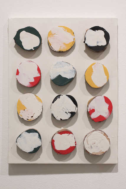 , 'Untitled (painting with wood circles),' ca. 1980, Anglim Gilbert Gallery