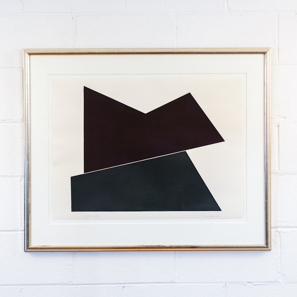 "Yves Gaucher ""FENTE"" SERIGRAPH, 1986"