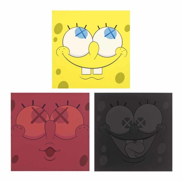 KAWS, 'Sponge Bob ', 2010, Print, Silkscreen on paper, Gin Huang Gallery